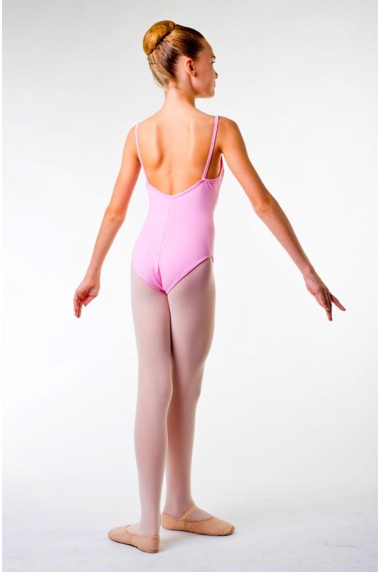 MDA pink low back leotard