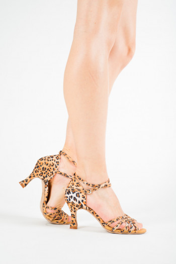 Sansha Alaia leopard latin dance shoes