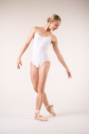 Wear Moi Diane white leotard