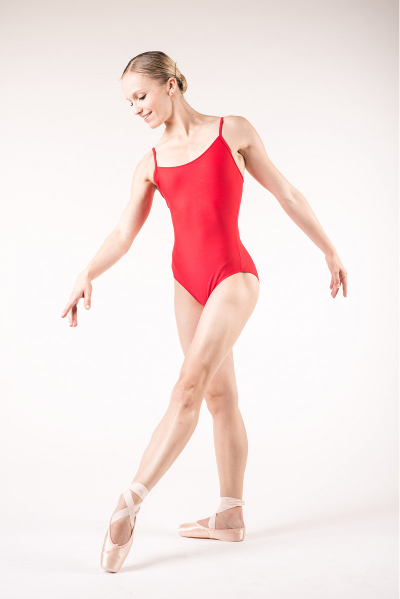 Wear Moi Diane red leotard