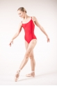 Wear Moi Diane red leotard