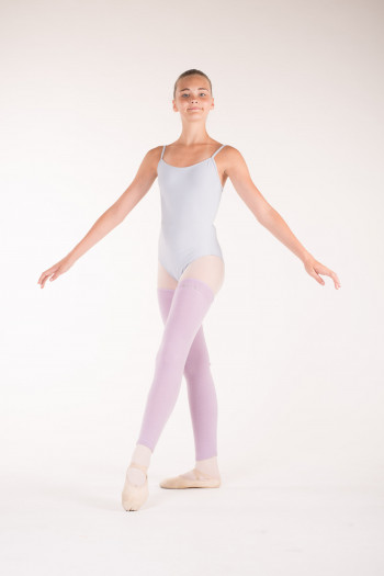 Wear Moi lilac knitted full leg warmers