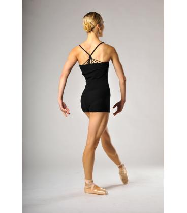 Mirella black roll over shorts M1103