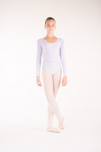 Temps Danse lilac wrap over top