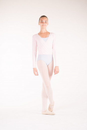 Temps Danse pink wrap over top