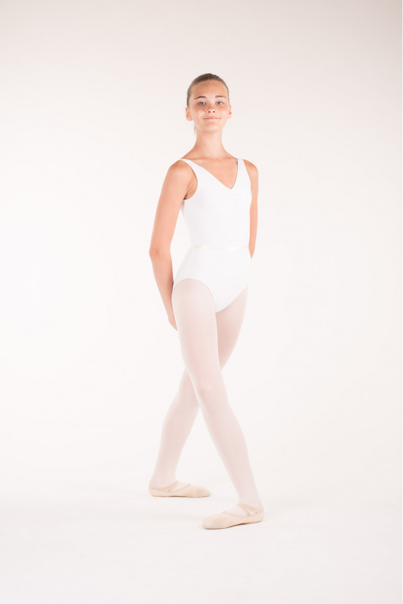 Capezio TC0002C Tactel White leotard