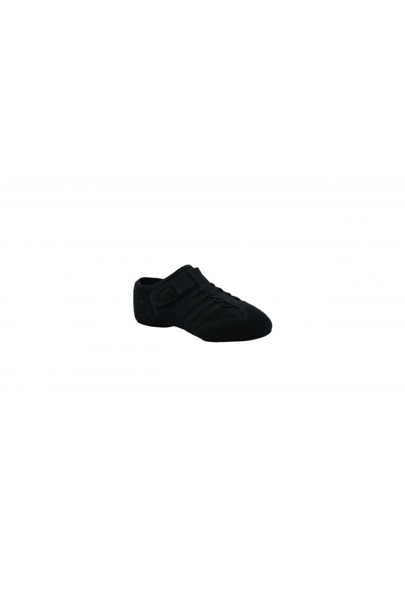 Capezio black jazz shoe suede sole