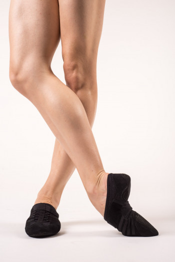 Capezio black jazz shoe suede sole