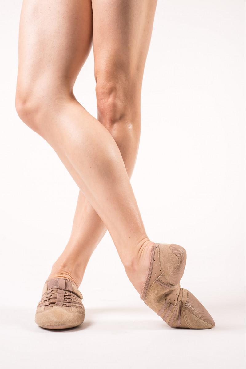Capezio flesh jazz shoe rubber sole