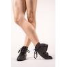 Black leather jazz boots