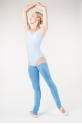 Wear Moi French blue knitted full leg warmers