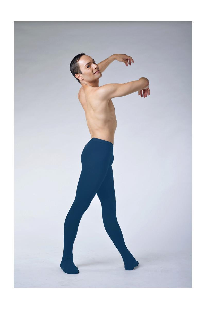 Ballet Rosa Vincent blue cotton tights