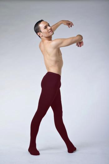 Collant de danse homme ballet rosa bordeaux