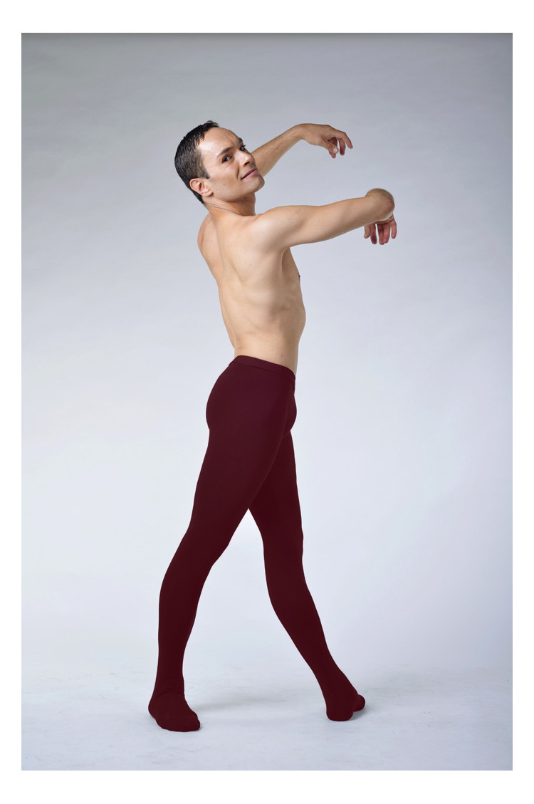 Ballet Rosa Vincent burgundy cotton tights