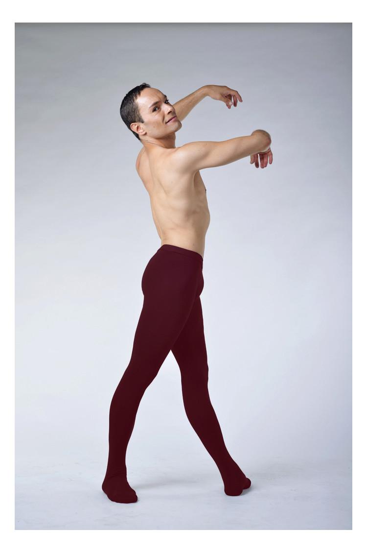 Ballet Rosa Vincent cotton burgundy tights