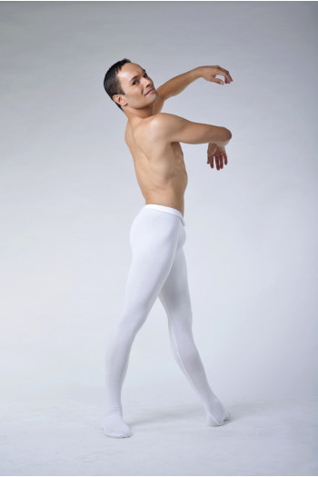 Ballet Rosa Vincent microfiber white tights
