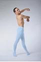 Ballet Rosa Vincent microfiber light blue tights