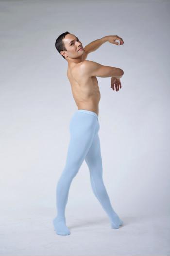 Collant de danse homme ballet rosa microfibre bleu ciel