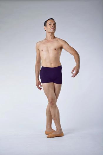 Short danse homme violet