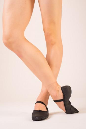 Demi pointe danse bloch cuir noir