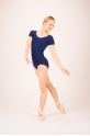 Capezio short sleeves navy leotard