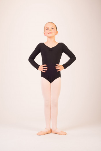 Capezio long sleeves black leotard