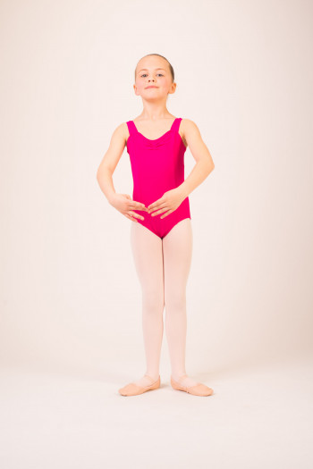 Capezio TC0001C Tactel mulberry leotard