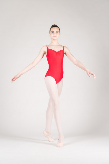 Wear Moi Abbie Red child leotard