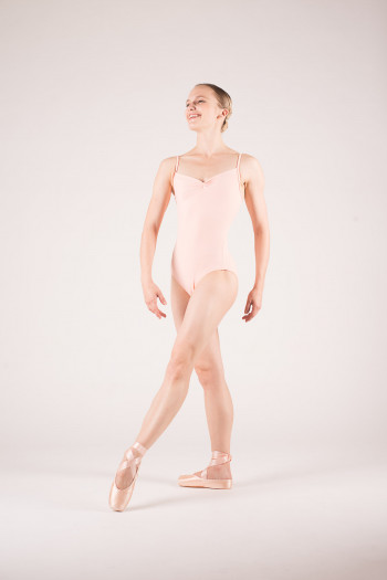 Wear Moi Abbie peach leotard