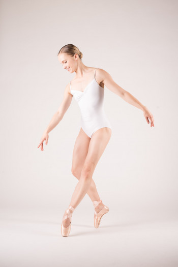 Wear Moi Abbie white leotard