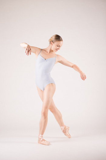 Wear Moi Abbie light grey leotard