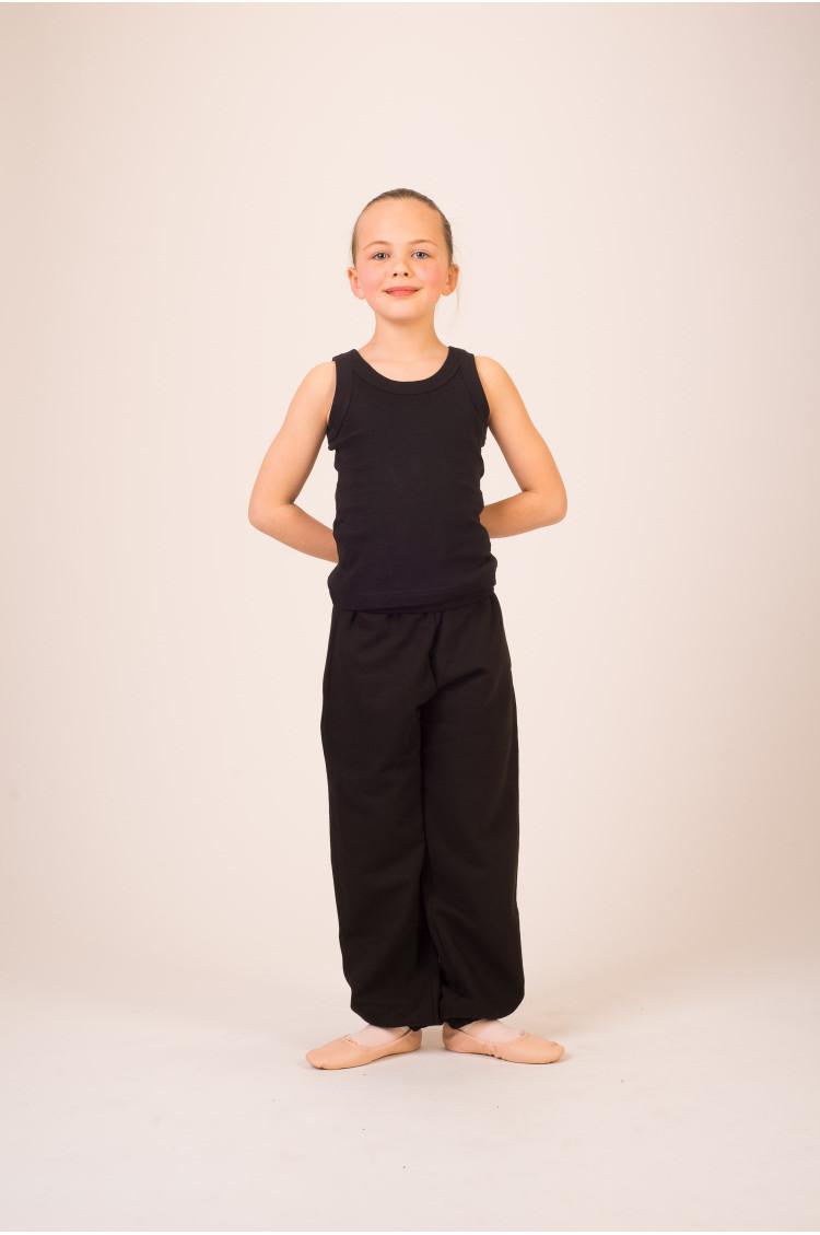 Pantalon danse large enfant noir
